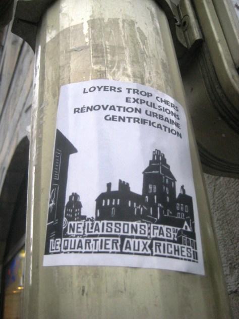 besancon-fevrier 2014 sticker - ne laissons pas le quartier aux riches
