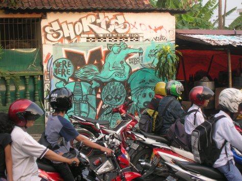 Here Here - Graffiti - ile de Java - yogyakarta - 2009