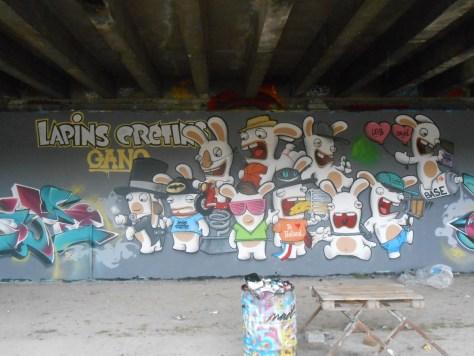 besancon, graffiti, avril 2014 Lapins Crétins Gang - Mesh - Wyker - Nacle (8)