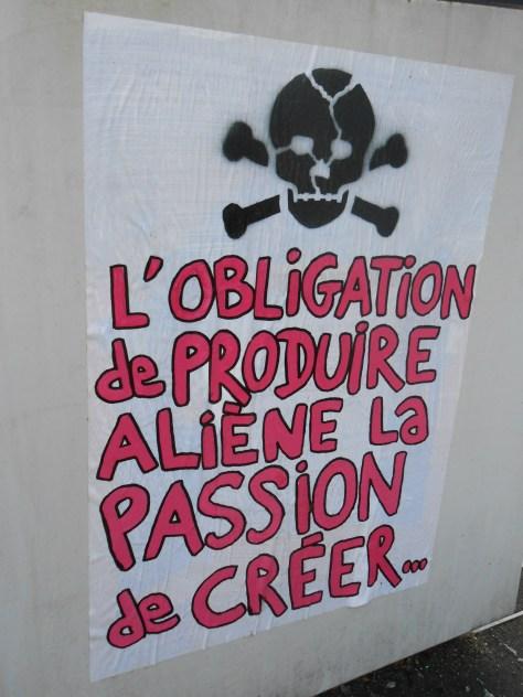 besancon, juin 2014  - affiche - obligation, alienation