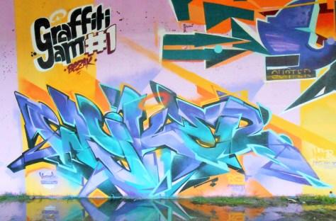 besancon, jam graffiti octobre 2014 WYKER