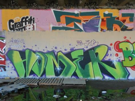 homer graffiti besak mars 2015