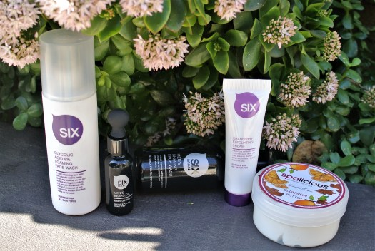 A selection of Six Sensational Skincare, Six Man and Spalicious products.