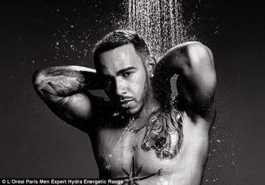 Lewis Hamilton for L'Oreal Men Expert.