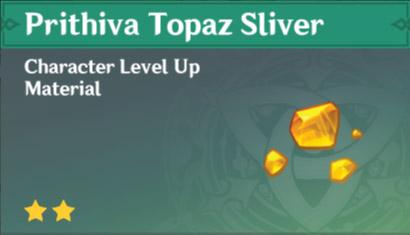 Prithiva Topaz Sliver