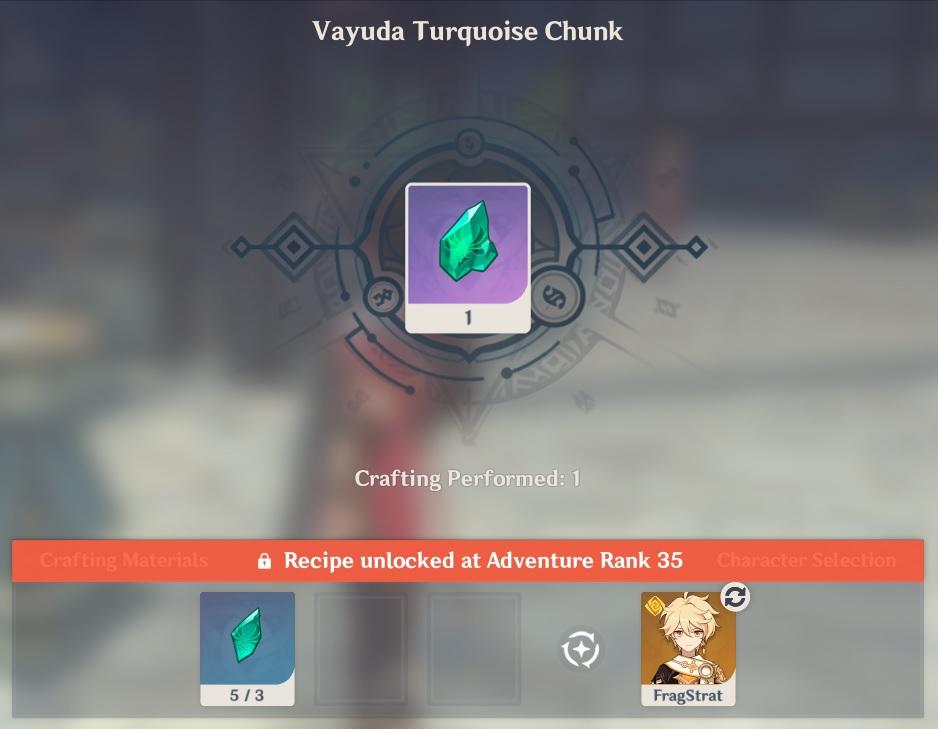 Vayuda Turquoise Chunk Crafting