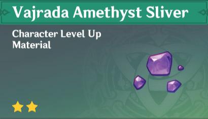 vajrada amethyst sliver