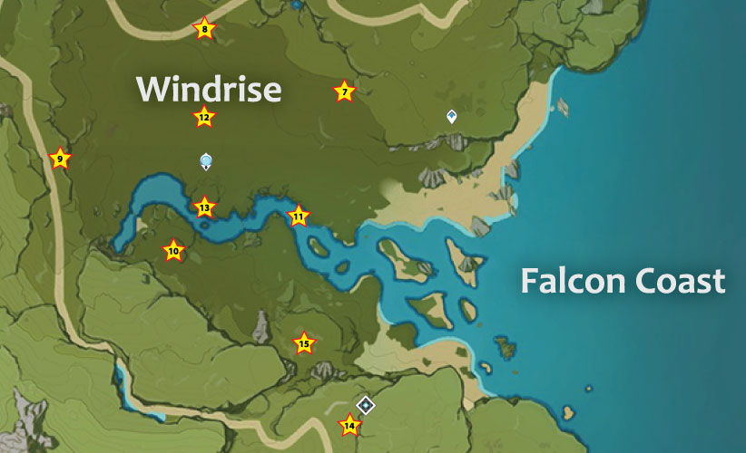 Windrise Anemoculus Locations