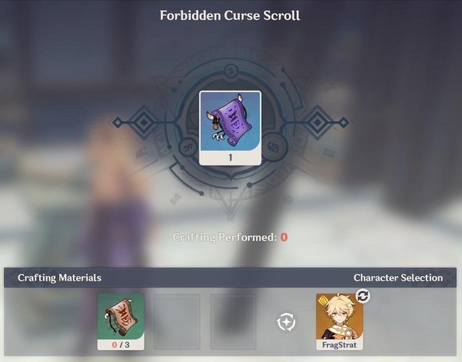 forbidden curse scroll crafting