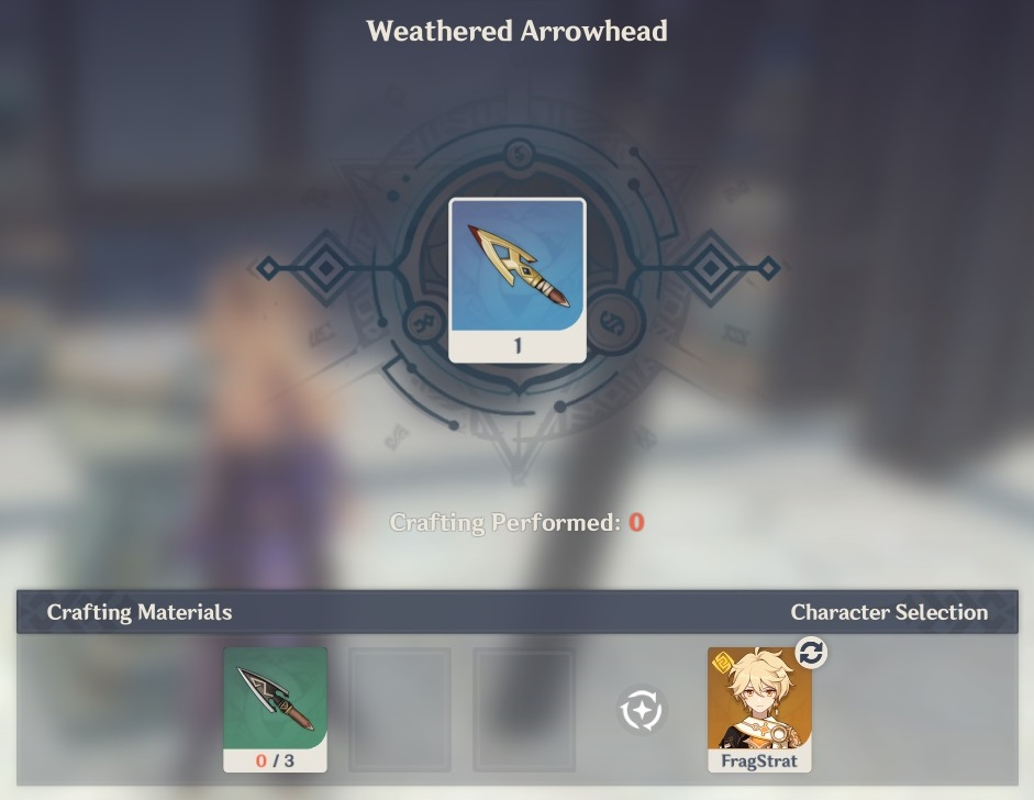 weathered arrowhead crafting