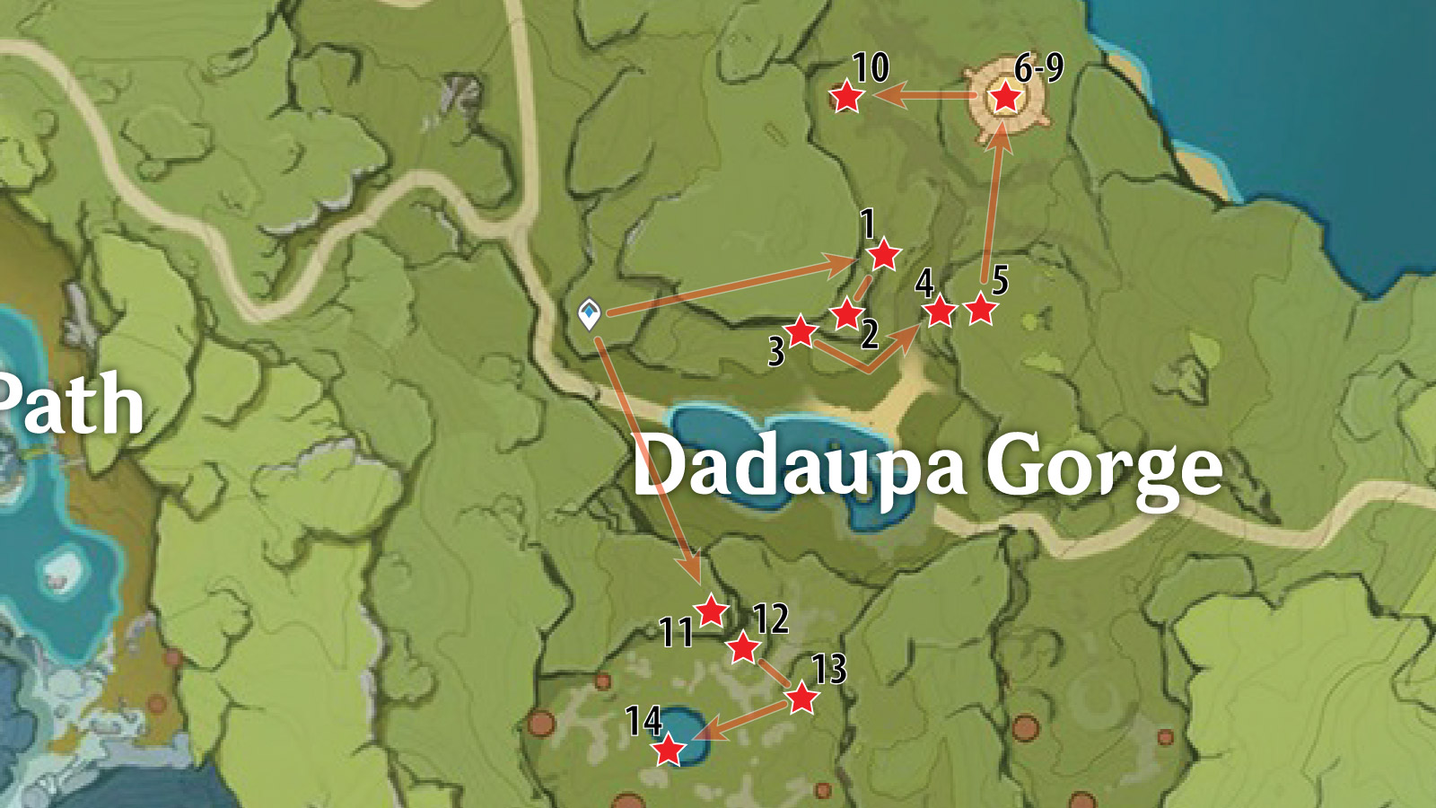 Dadaupa Gorge Chest Locations