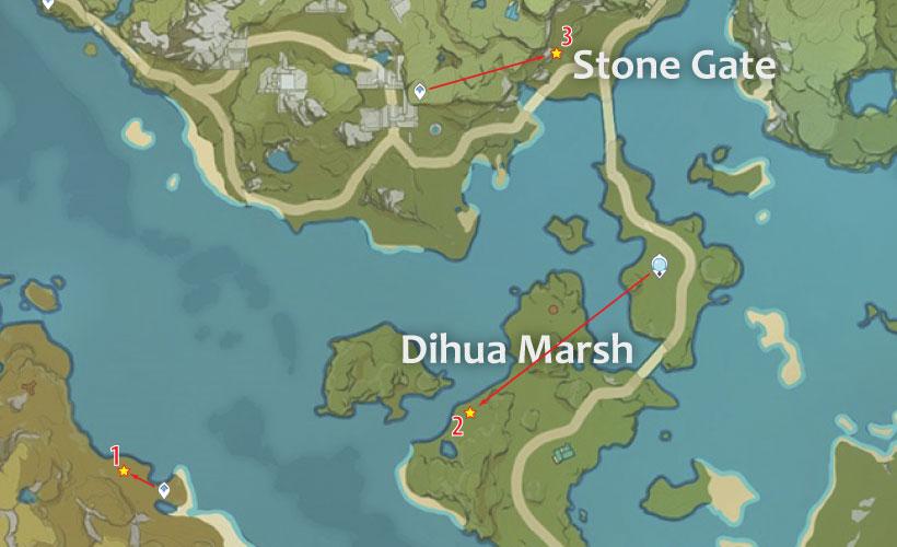 Dihua Marsh Geovishap Locations