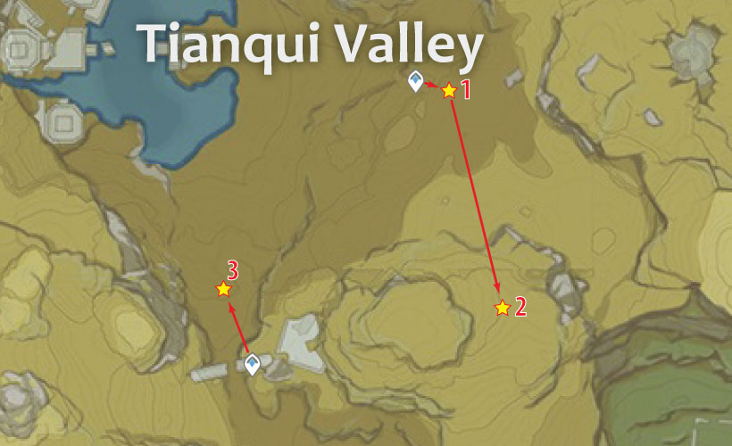 Tianqui Valley Geovishap Locations