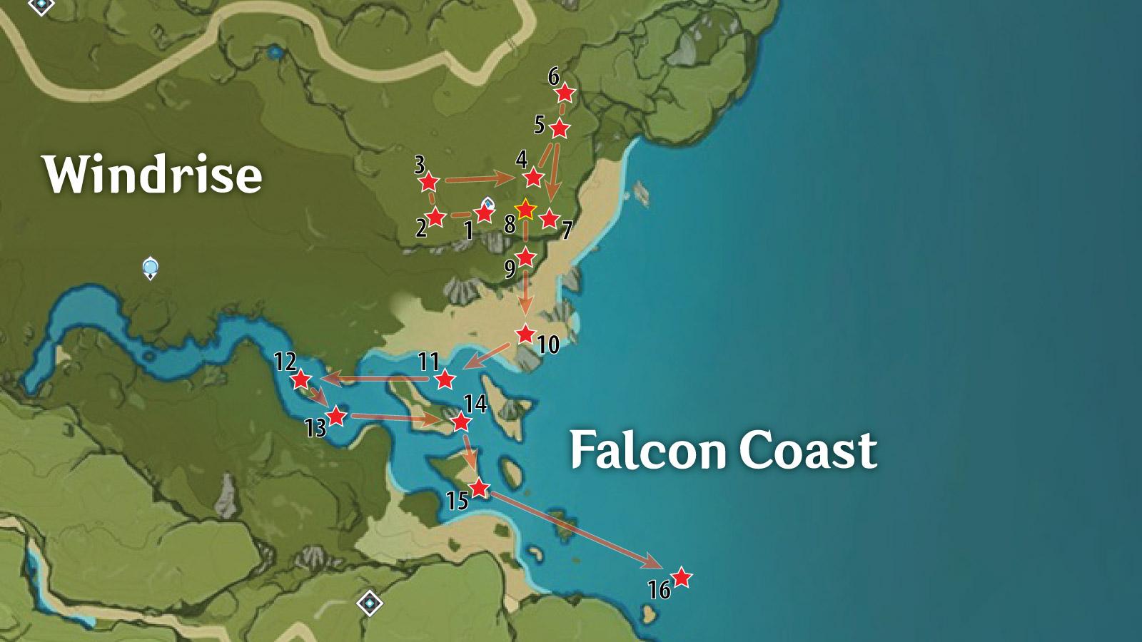 Falcon Coast Chests Location