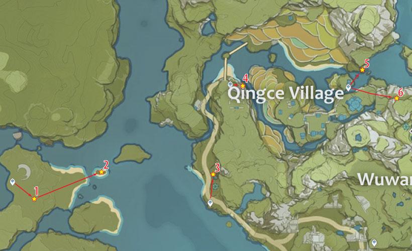 qingce village cor lapis location