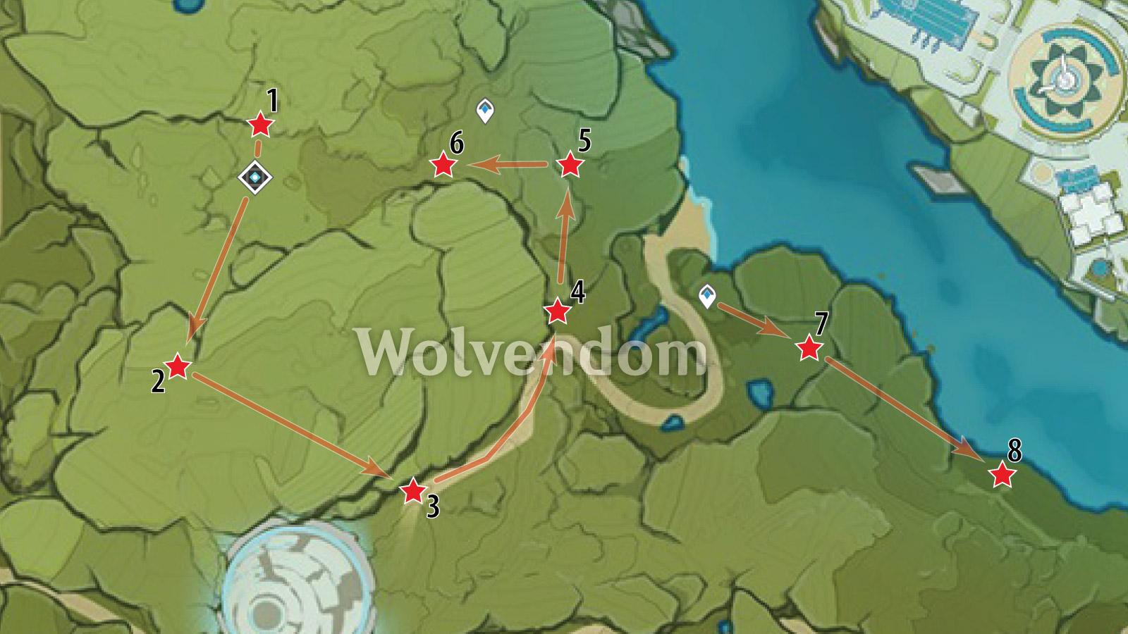 Wolvendom White Iron Farm Route