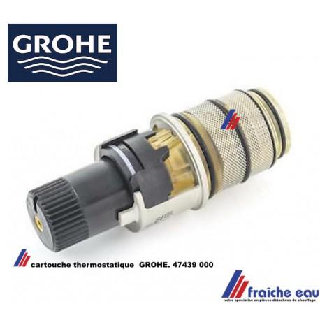 tete thermostatique de robinet bain et douche grohe 47439 000 mecanisme de mitigeur avec thermostat