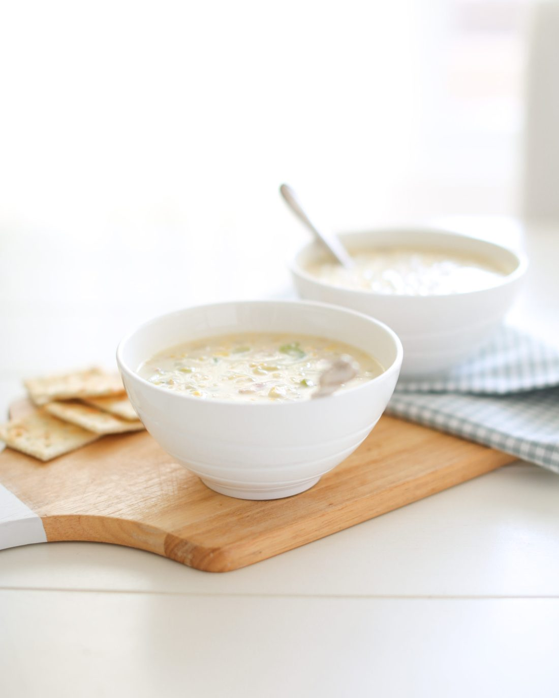 Simple corn chowder that comes together in just 10 minutes!