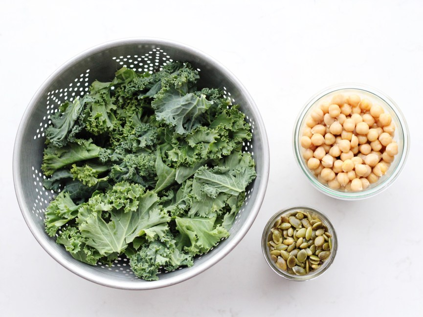 Kale chickpea snack mix ingredients