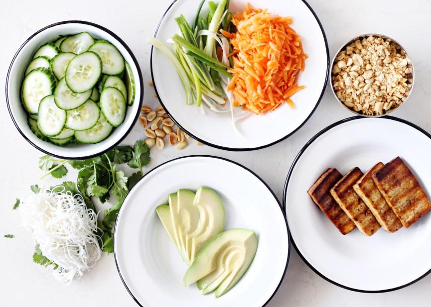 Crispy Tofu Spring Roll Ingredients