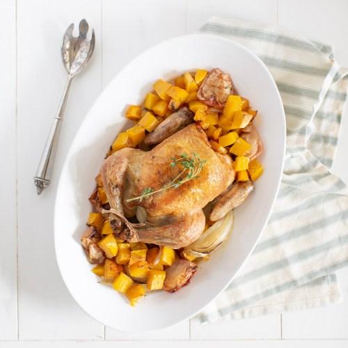 Apple & Butternut Squash Roasted Chicken