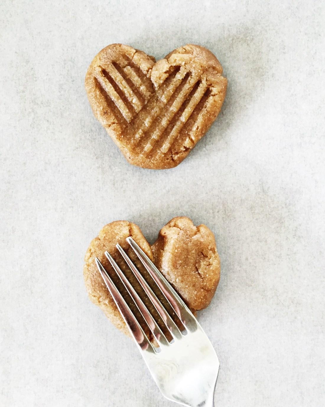 Heart Shaped Peanut Butter Cookies