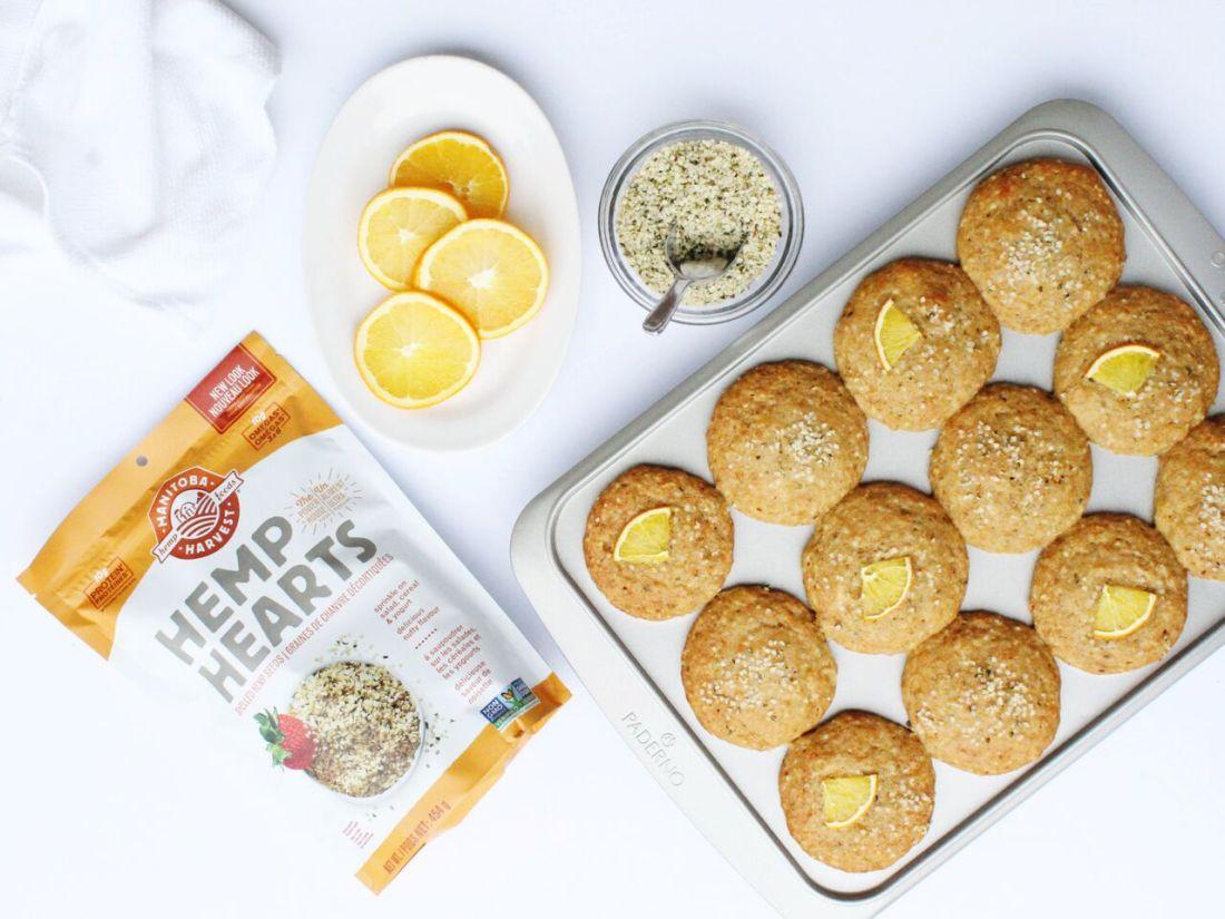 Orange Hemp Muffins & 10 Other Ways to Use Hemp Hearts