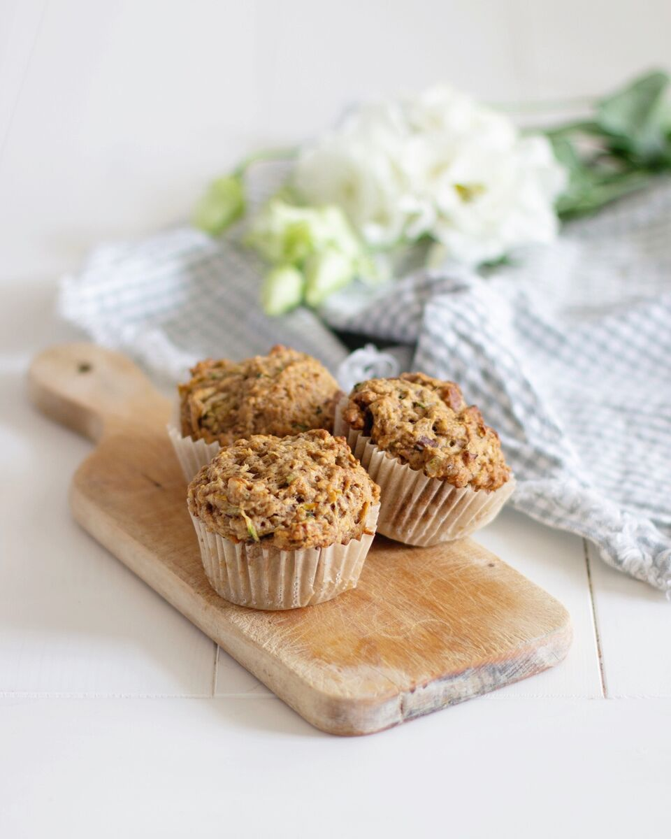 Vegan Zucchini Bread (or Muffins) by Tori Wesszer, Registered Dietitian with FraicheNutrition.com