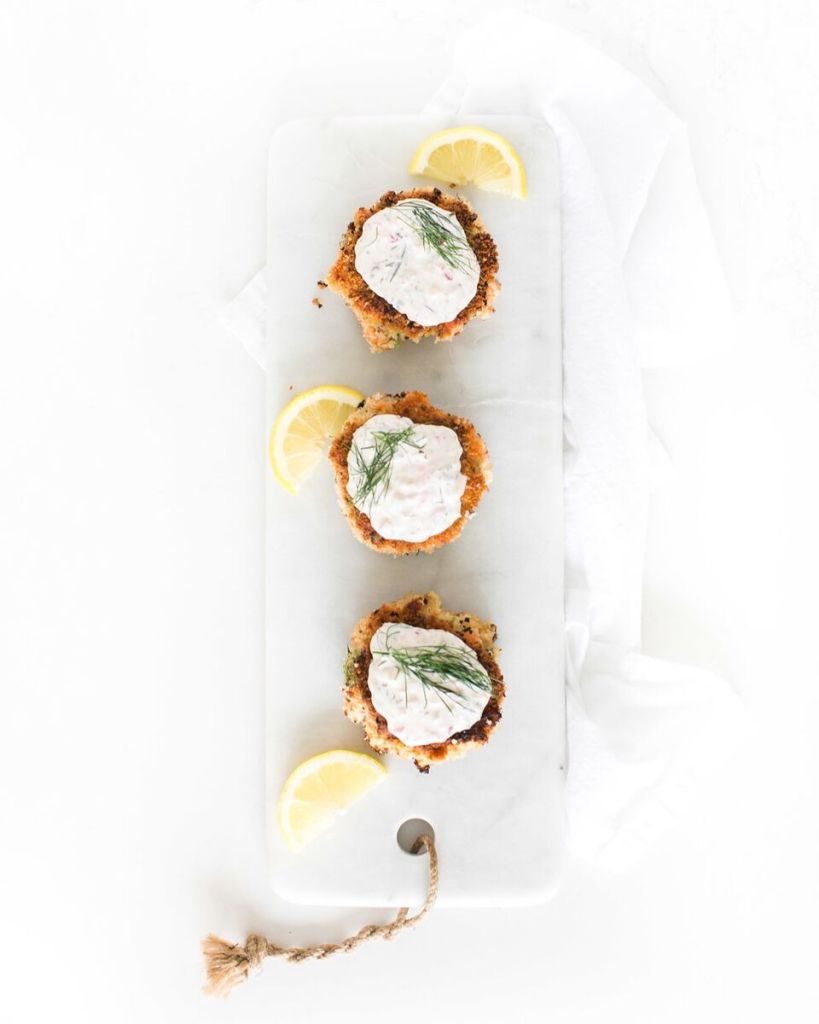 Salmon Cakes with Dill Tartar Sauce