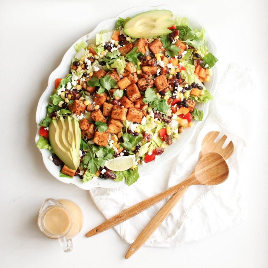 Santa Fe Copycat Earls Salad with a vegan option