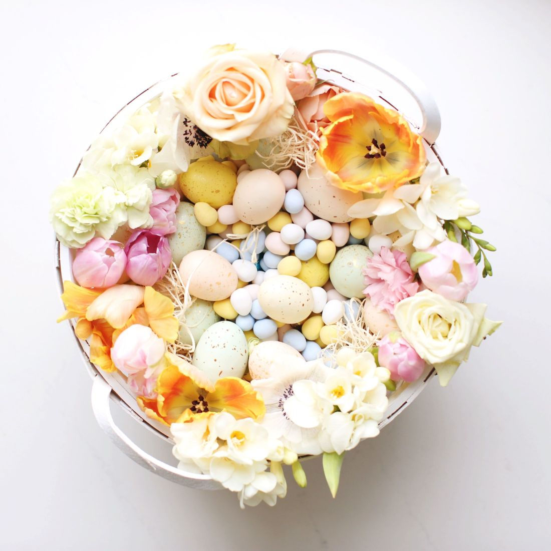 Floral Easter Basket