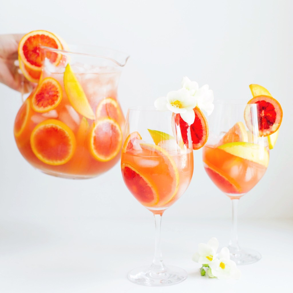 White wine tropical iced tea sangria