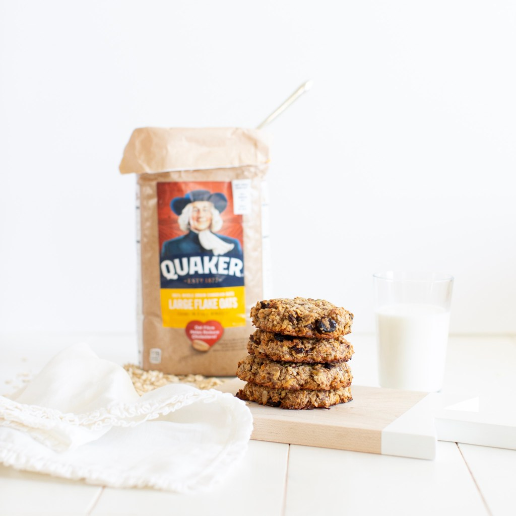 Breakfast Power Cookies that are gluten free and vegan made with whole grain oats, nuts, seeds and coconut to help give you energy for your day!