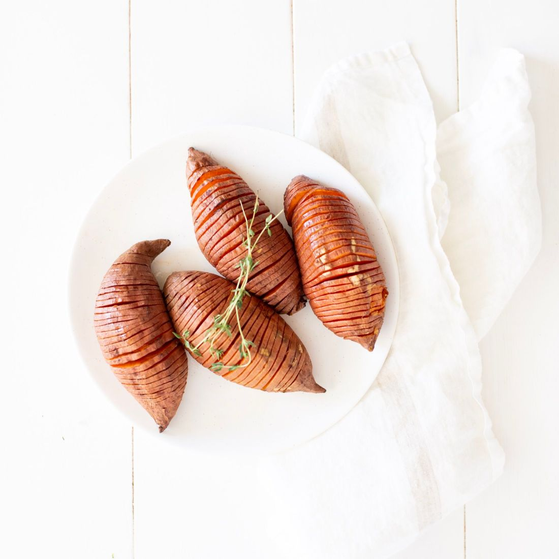 Maple Hasselback Sweet Potatoes