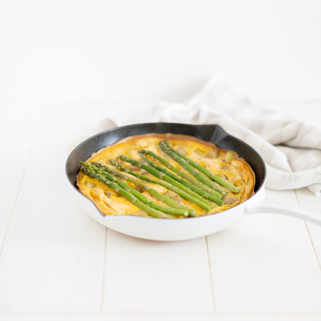Easy Asparagus Frittata perfect for a lazy breakfast or weeknight dinner