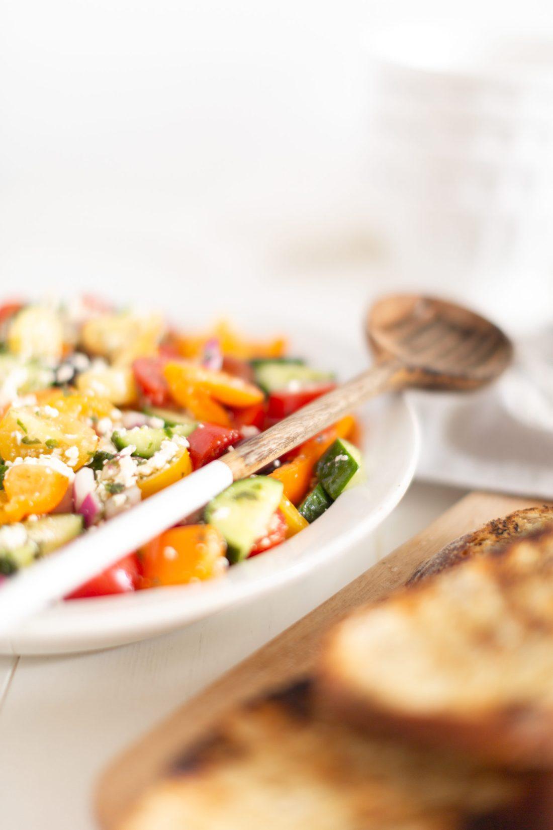 Greek Summer Panzanella Salad Recipe