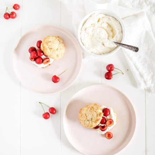 Okanagan Cherry Almond Shortcakes