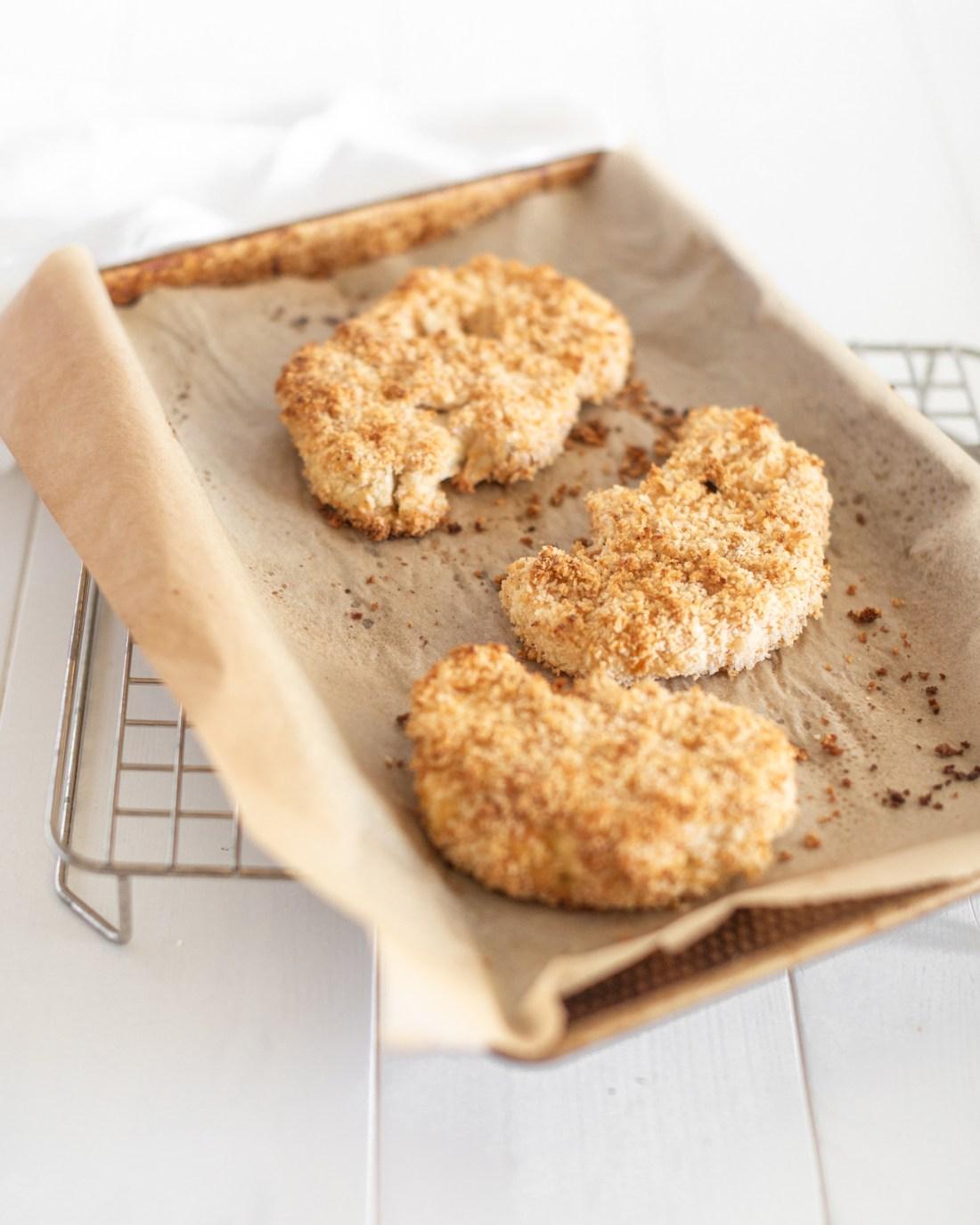 Baked Crispy Cauliflower Sandwiches recipe - vegan option