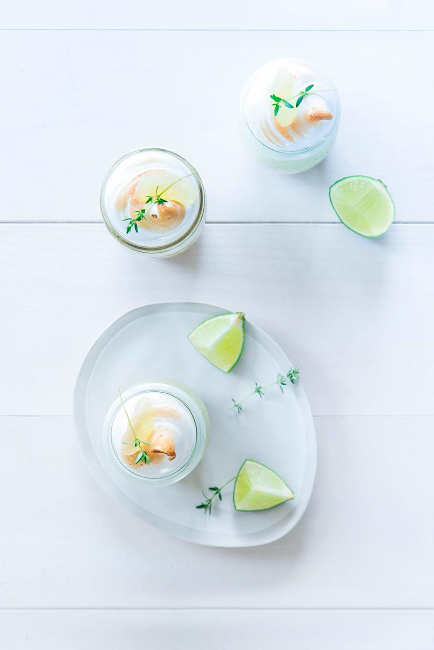 Tarte citron vert basilic revisitée ©Fraise & Basilic