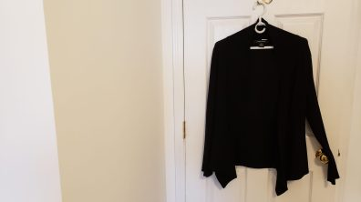 Long sleeve black shawl