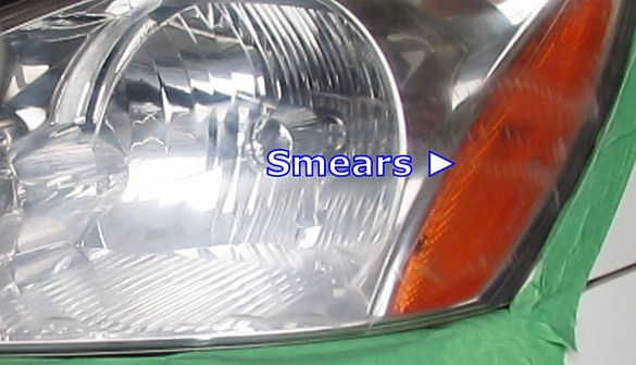 Smears caused by improper sanding