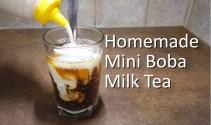 Easy Homemade Mini Boba Milk Tea from scratch – Tasty Bubble Tea Recipe to Make at Home
