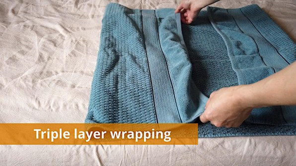 Triple layer wrapping example for ice packs (2 of 3)
