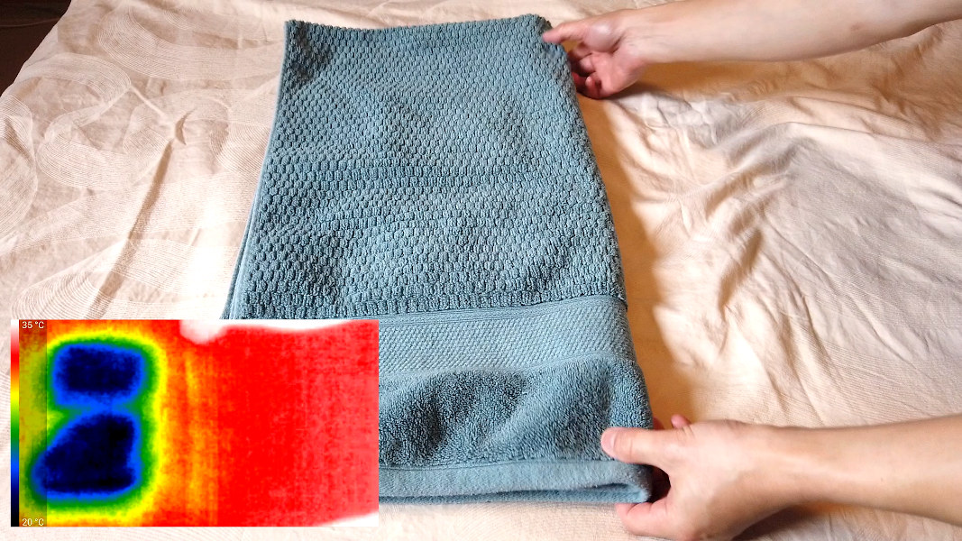 Removing towel wrapped ice packs after cooling the bed