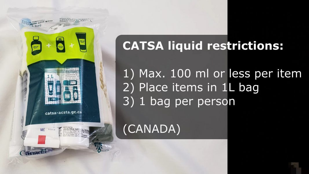 CATSA liquid restrictions (Canada)