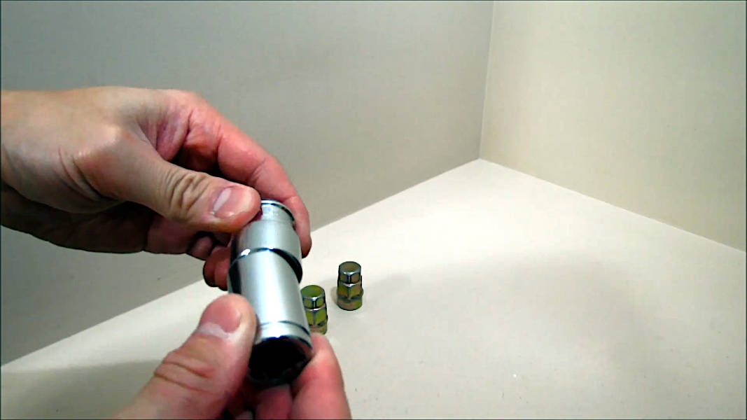 Attempting to use a 17mm socket on a Gorilla Guard wheel lock nut