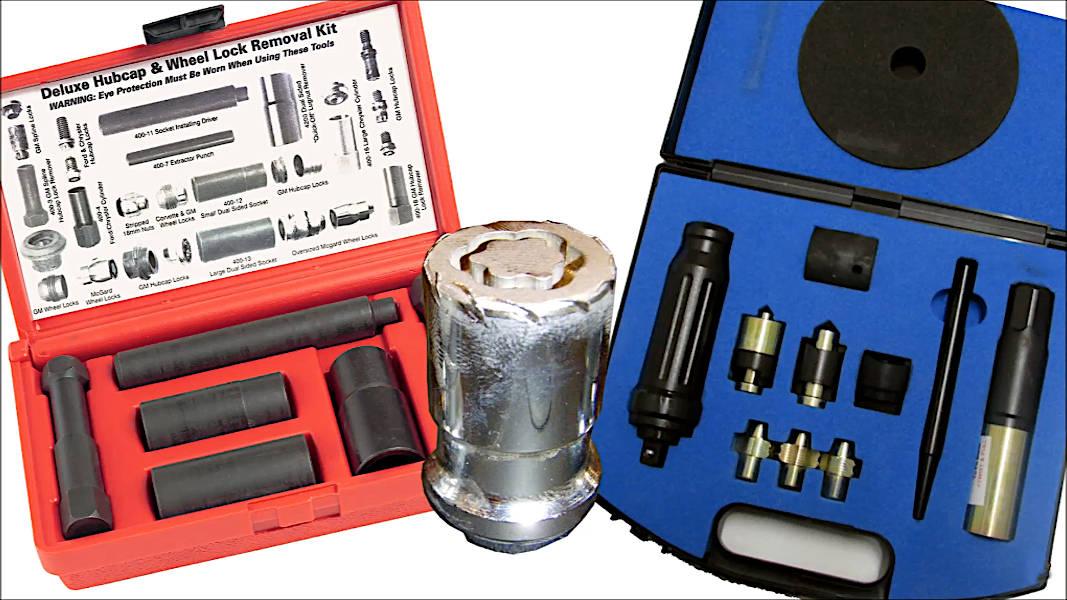 Tools wheel/auto shops will use to remove wheel locks