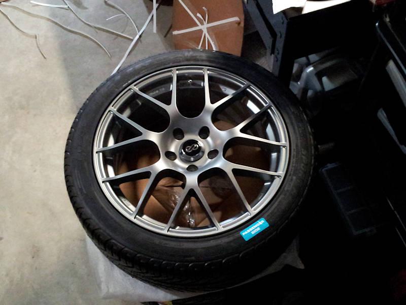 Enkei Raijin wheels in Gunmetal