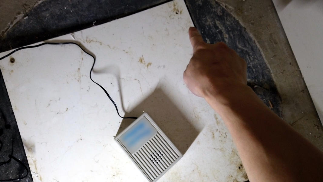 Screw holes on a sump pit cover
