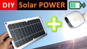 DIY Solar Power for smart security cameras - Solar Panel DIY
